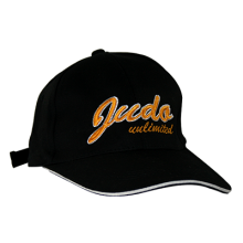 Judo Cap Black with Script